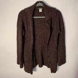 J.Crew Wool Fitted Button Down Knit Sweater